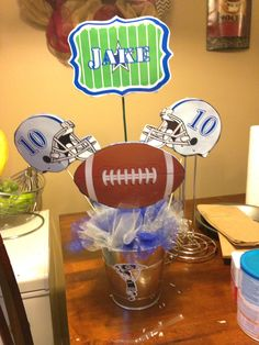 Dallas cowboys birthday table centerpieces & Football Themed Centerpieces - Super Bowl Party Centerpiece ...
