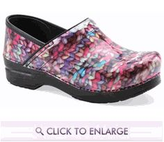 Who says that you can't have #knit shoes? What great Dansko clogs!