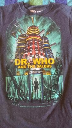 Doctor Who and the Daleks Tardis 1965 Movie Poster T-Shirt Rare! Tardis, Nerd Stuff, Doctor Who, Graphic Tees, Tv, Medium, Movies, Poster, T Shirt