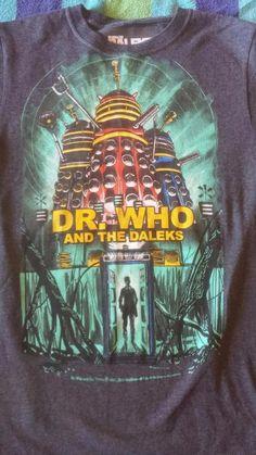 Doctor Who and the Daleks Tardis 1965 Movie Poster T-Shirt Rare! Tardis, Nerd Stuff, Doctor Who, Graphic Tees, Tv, Medium, Movies, T Shirt, Poster