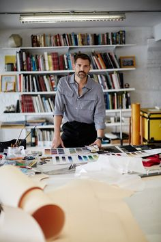 Patrick Grant at his Wapping cutting desk