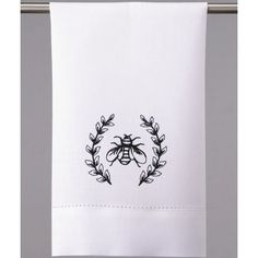 Amazon.com: Peking Handicraft White Hand Towels with Black Bumble Bee Crest (set of 2): Home & Kitchen