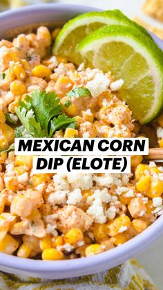 Mexican Corn Dip, Mexican Side Dishes, Mexican Dinner Recipes, Mexican Party Appetizers, Mexican Beans Recipe, Mexican Dinner Party, Mexican Style Corn, Taco Side Dishes, Rice And Beans Recipe
