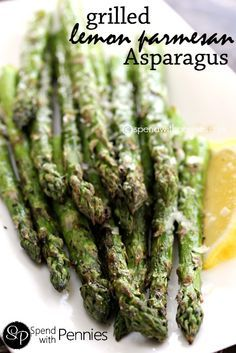 Grilled Lemon Parmesan Asparagus!  One of my favorite summer sides!