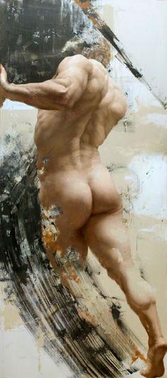 The Eidolon Series: Thrust by Shane Wolf oil on canvas, 223,6 x 100 cm. (2012)