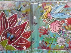 Fairy art journal page