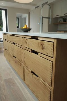 At TRUE Bespoke kitchens we are passionate about creating unique, simple yet beautifully crafted cabinetry made from the finest materials. Cottage Kitchen Cabinets, Home Decor Kitchen, Kitchen Design, Kitchen Ideas, Danish Kitchen, Cabinet Door Styles, Cabinet Ideas, Handleless Kitchen, Modern Kitchen Interiors