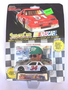 LIONEL NASCAR STOCK CAR RACING TODD BODINE 34 CAR COLLECTOR CARD & DISPLAY STAND #LionelNASCAR #Buick $5.00#Nascar Stock Car#Racing Collectibles#Winston Cup Racing