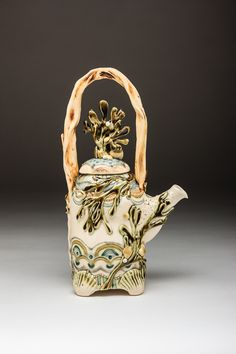 Claire Prenton Ceramics, 2015 , porcelain. Seaweed Teapot.