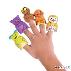 Cave Adventure Puffy Finger Puppets - OrientalTrading.com