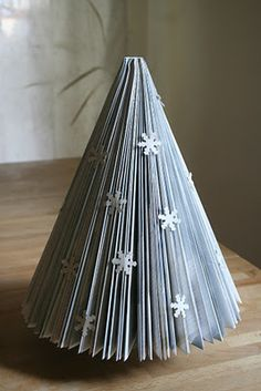 Christmas tree newspaper by Croissant and lavender
