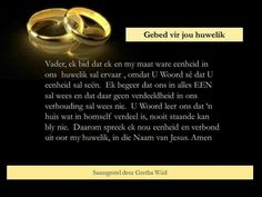 Ware eenheid in huwelik Bible Quotes, Bible Verses, Qoutes, The Covenant, Quotes To Live By, Prayers, Afrikaans, Tea Party, Marriage