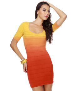 Tequila Sunrise Bandage Dress