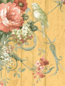 ― Eades Discount Wallpaper & Discount Fabric LOVE the vibrant colors! Interior Wallpaper, Wallpaper Decor, Fabric Wallpaper, Bird Wallpaper, Chinoiserie, French Country Cottage, French Country Style, French Country Fabric, French Fabric