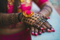Mehendi Designs - Mehendi Bridal Design with Gota Jewelry   Mehendi by: Shalini Mehendi Artist #wedmegood #indianbride #indianwedding #bridalmehendi #mehandi #henna #tattoo #indianhenna