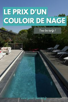Piscine couloir de nage : découvrez le prix de ce type de piscine longue et étroite, idéale pour les nageurs ! #piscine #couloir #nage #natation #jardin Construction, Guide, Outdoor Decor, Dimensions, Ale, Big Pools, Swimming Pool Landscaping, How To Build, Landscape Planner