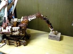 Wooden Robotarm 2009 (Wooden robotic arm 木のロボットアーム) - YouTube