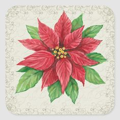 Please see my Stickers, Christmas, and different categories for more added weekly . I should live long enough to add all the designs I have . Size: inch (sheet of Color: poinsettia. Poinsettia Cards, Poinsettia Flower, Christmas Poinsettia, Christmas Flowers, Christmas Colors, Christmas Art, Vintage Christmas, Christmas Squares, Christmas Ornaments