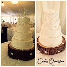 Sugar flowers, simple and elegant wedding cake.   Designed by Cake Quarter  Wedding cakes • Birthday Cakes.  www.cakequarter.co.uk 01215071645