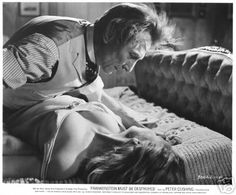 Peter Cushing and Veronica Carlson in Frankenstein Must Be Destroyed. This scene shocked me more than anything else Peter has filmed.