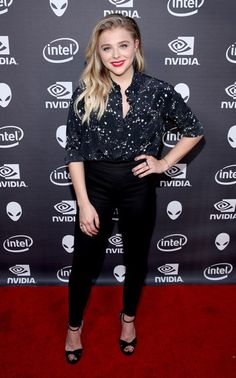 Chloe Grace Moretz wearing a Markus Lupfer Cleo Constellation Silk Shirt https://api.shopstyle.com/action/apiVisitRetailer?id=503595104&pid=uid7729-3100527-84&site=www.shopstyle.co.uk and Jimmy Choo shoes https://api.shopstyle.com/action/apiVisitRetailer?id=514354617&pid=uid7729-3100527-84. #style #celebstyle