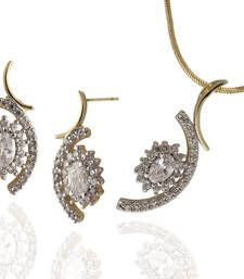 Buy diamond pendant set necklace-set online