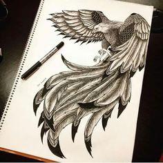 60 Best Phoenix Tattoo Designs – The Coolest Symbol for Tattoo - i like tattoos - Tatoo Ideen Tattoo Drawings, Body Art Tattoos, New Tattoos, I Tattoo, Sleeve Tattoos, Tattoos For Guys, Cool Tattoos, Tatoos, Bird Of Prey Tattoo