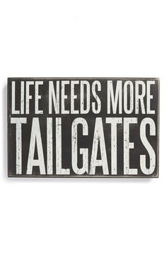 PRIMITIVES BY KATHY 'Life Needs More Tailgates' Tray available at #Nordstrom