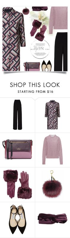 """""""Back to work on a cold January morning"""" by molly2222 ❤ liked on Polyvore featuring Rochas, MaxMara, Kate Spade, Jil Sander, Ted Baker, Helen Moore, Jimmy Choo and Johnny Loves Rosie"""