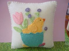 Felt Easter Chick Pillow ~ too cute...