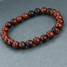 Red Stone Beaded Bracelet