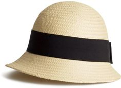 Straw Hat - Light beige - $12.95 at H&M // via Shop My Picks: Summer Hats // The Busy Girl's Shopping Companion #beach