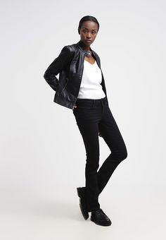 Guess NICOLE CIGARETTE Slim Fit Jeans zwart
