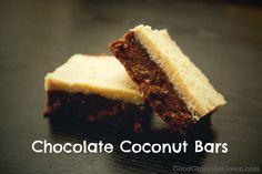 Chocolate Coconut Bars, Vegan, Raw
