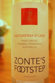 2010 Zonte's Footstep Doctoress di Lago - Not Your Mother's Pinot Grigio. $15. See the full review.