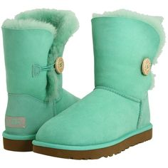 Ugg Bailey Button ($160) ❤ liked on Polyvore featuring shoes, boots, ankle booties, uggs, blue, botas, women, ankle boots, fold over ankle boots and sheeps boots