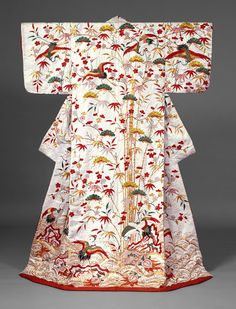 Outer robe (uchikake) with theme of Mount Hôrai, Edo period (1615–1868), second half of 18th–first half of 19th century. Japan. The Metropolitan Museum of Art, New York. Gift of Dr. and Mrs. Jonas M. Goldstone, 1970 (1970.296.1)