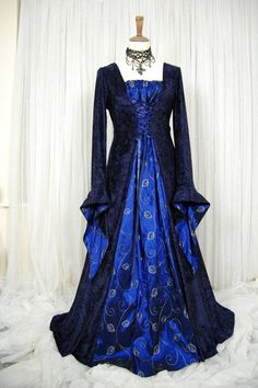 Medieval pagan wedding prom dress gown LOTR hand by RoxxOnline, $191.00