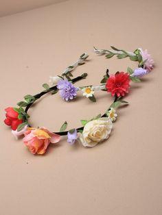 Floral headbands at IncaUK.com
