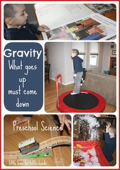 Gravity Science Experiment for Preschool Kids