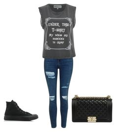 """Untitled #266"" by claudinejoacin ❤ liked on Polyvore featuring Topshop, Wildfox and Converse"