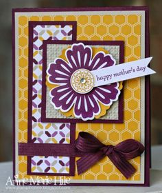 handmade card from Stampin' Anne ... like the layers and the layout ... Stampin'Up!