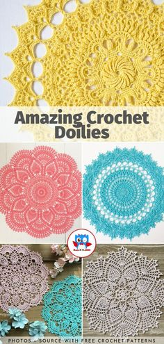 crochet doilies Looking at stunning crochet designs is an ultimate pleasure for someone who is learning this craft. Today's collection of Amazing Crochet Doilies is for seasoned croche Crochet Tablecloth Pattern, Free Crochet Doily Patterns, Crochet Doily Rug, Crochet Placemats, Crochet Doily Diagram, Crochet Home, Thread Crochet, Crochet Designs, Crochet Crafts