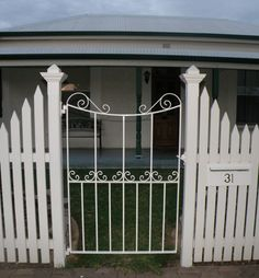 Florence wrought iron gate, Pt Adelaide, SA