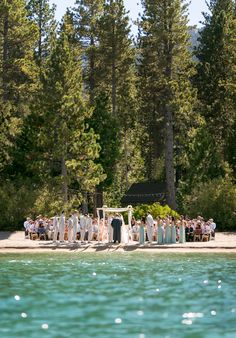 What a breath-taking view these guests had at a Private Estate overlooking Lake Tahoe. Lake Tahoe Weddings | One Fine Day Events | #mikelarson | Mike Larson Wedding and Private Estate Photography