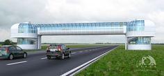 Project & 3d-vis  Overhead crosswalk (2012)