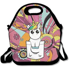 INTERESTPRINT Cute Magic Fantasy Unicorn Adults Travel Tote Duffel Bag Carry on