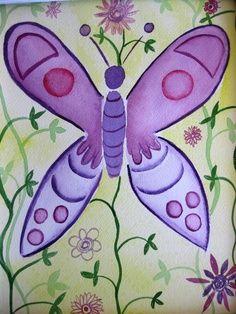 caterpillar kids painting