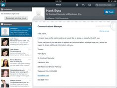 LinkedIn iPad app - Your Inbox