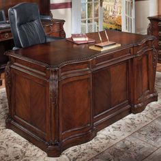 Flexsteel Contract Balmoor Executive Desk & Reviews   Wayfair